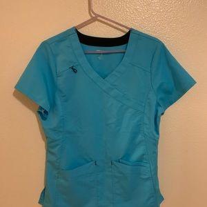 Blue scrub top